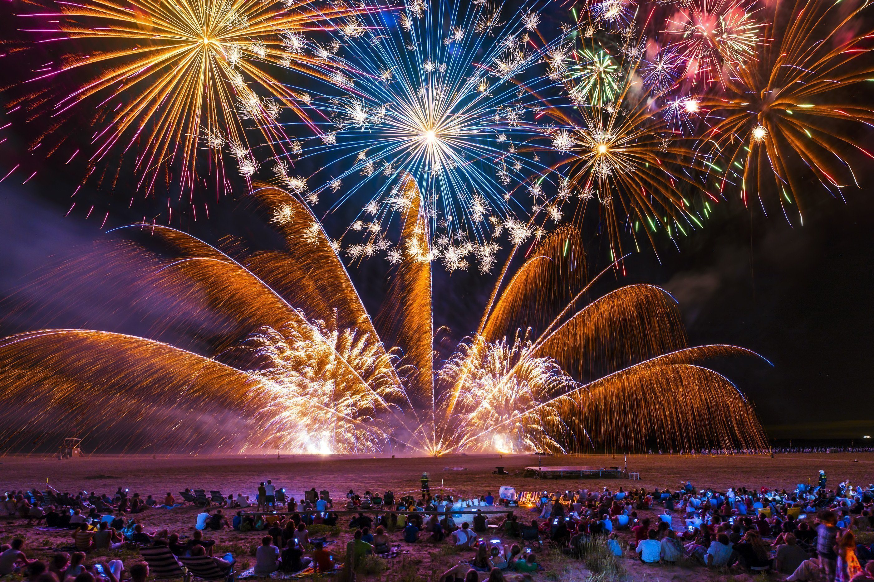 July 29 2019 Feast of St  Anne: boat tour with fireworks